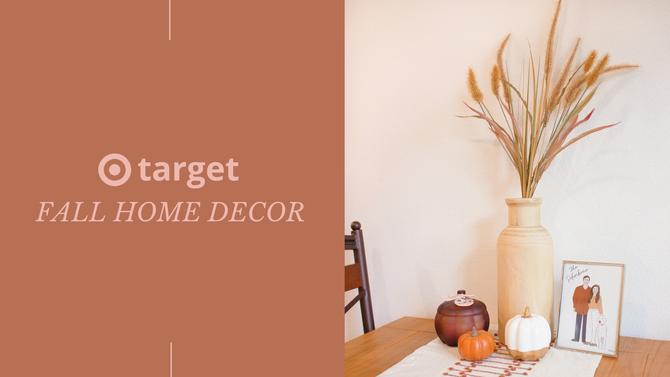 Target Fall Home Decor