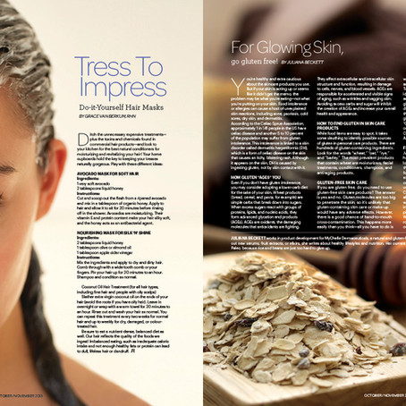 """Tress To Impress: DIY Gorgeous Hair Masks"" by Grace Van Berkum in Sweat Equity Magazine"