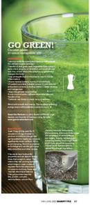 """Gracious Living Green Coconut Power Smoothie"" in SweatRX Mag (plus CHIA GEL recipe)"