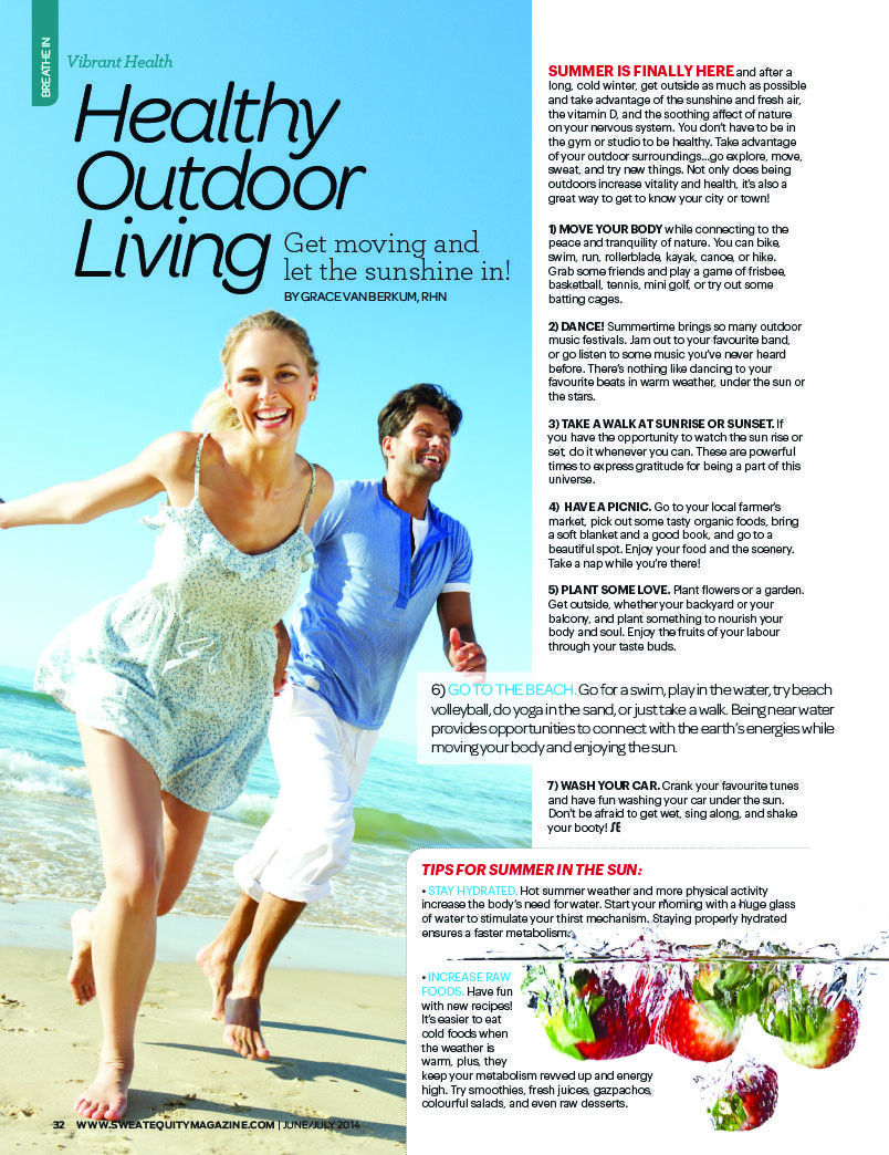 Gracious Living Healthy Summer 2014 Tips