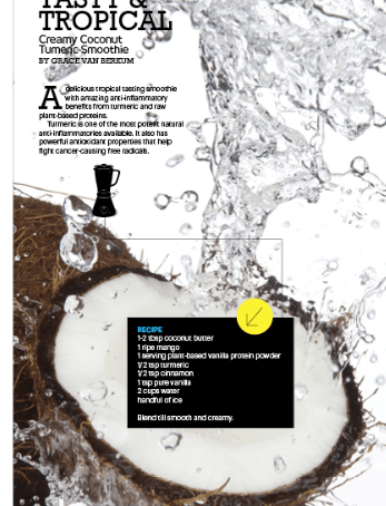GLO Coconut Turmeric Smoothie