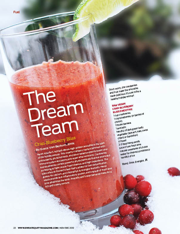 Grace Van Berkum-smoothie-Sweat Equity Magazine