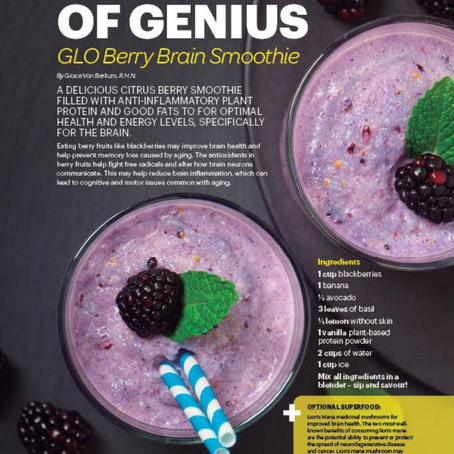 GLO BERRY BRAIN SMOOTHIE RECIPE