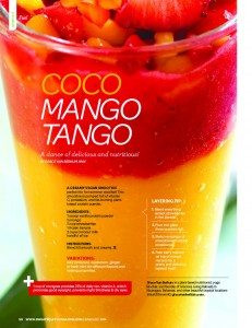 Gracious Living Coco Mango Tango Smoothie