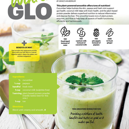 """Winter GLO"" Protein Mint Smoothie with Ergogenics"