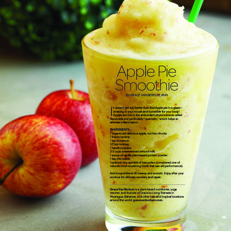 Gracious Living Apple Pie Smoothie in Sweat Equity Magazine