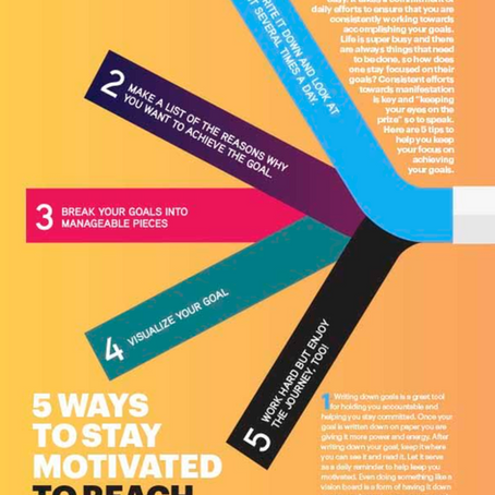 5 Ways To Stay Motivated To Reach Your Goals
