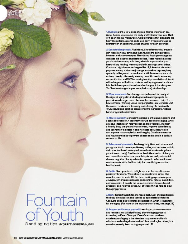 Sweat Equity Magazine-Grace Van Berkum-anti-aging
