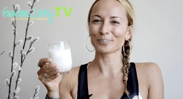 Gracious Living TV-Almond Milk recipe-Grace Van Berkum