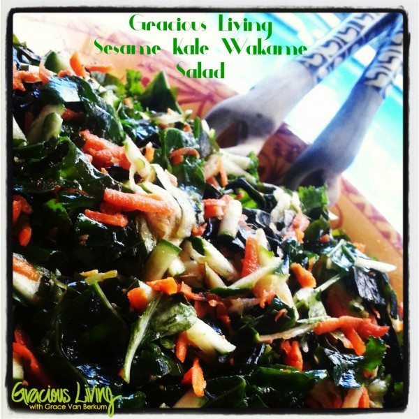 Gracious Living Sesame Kale Wakame Salad-Grace Van Berkum