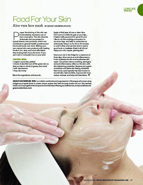Gracious Living-Grace Van Berkum-Sweat Equity Magazine-Beauty-Food for your skin