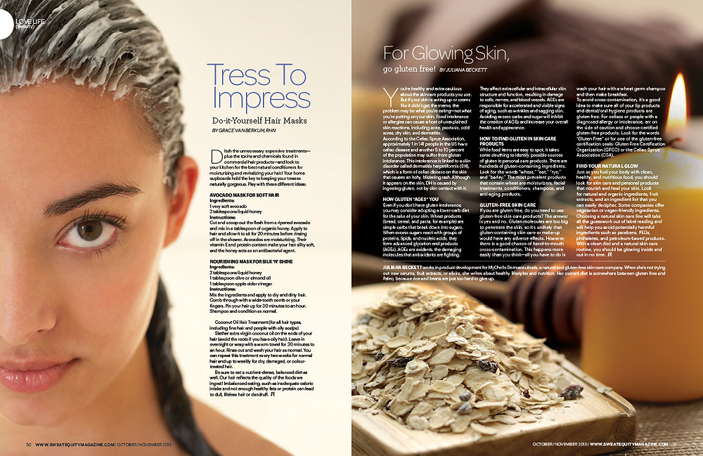 Sweat Equity Magazine-Beauty Oct 2013-Grace Van Berkum