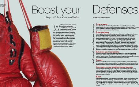 7 Ways to Boost your Immune Health in Sweat Equity Magazine