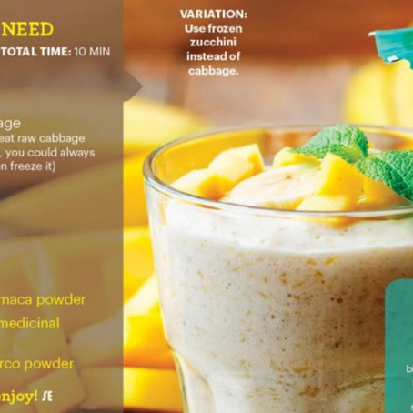 "GLO Creamy Mango Smoothie (raw, vegan, superfoods) + ""5 Ways To Live An Empowered Life"""