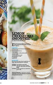 Sweat RX Mag-Gracious Living Lemon Cheesecake Smoothie-vegan athletes