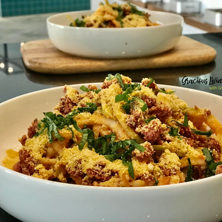 GLO Raw Pasta Bolegnese Recipe