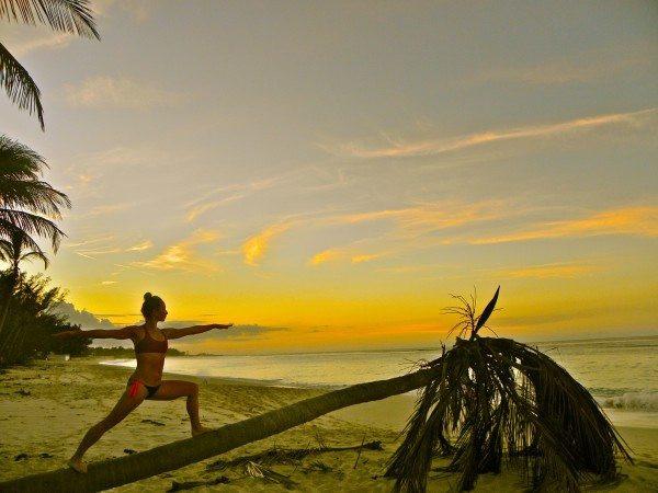 Grace Van Berkum-Gracious Living-Bahamas Beach Yoga
