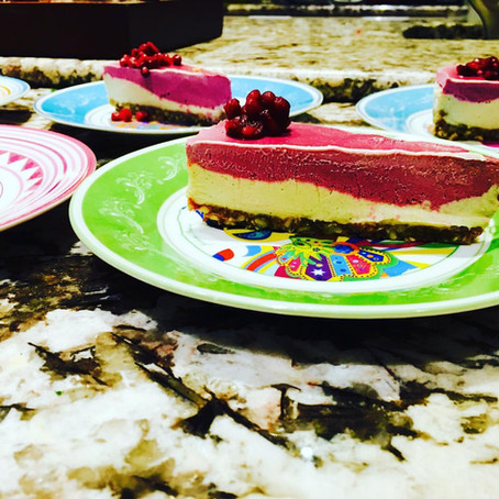 GLO Raw Raspeberry Lemon Cheezecake Recipe