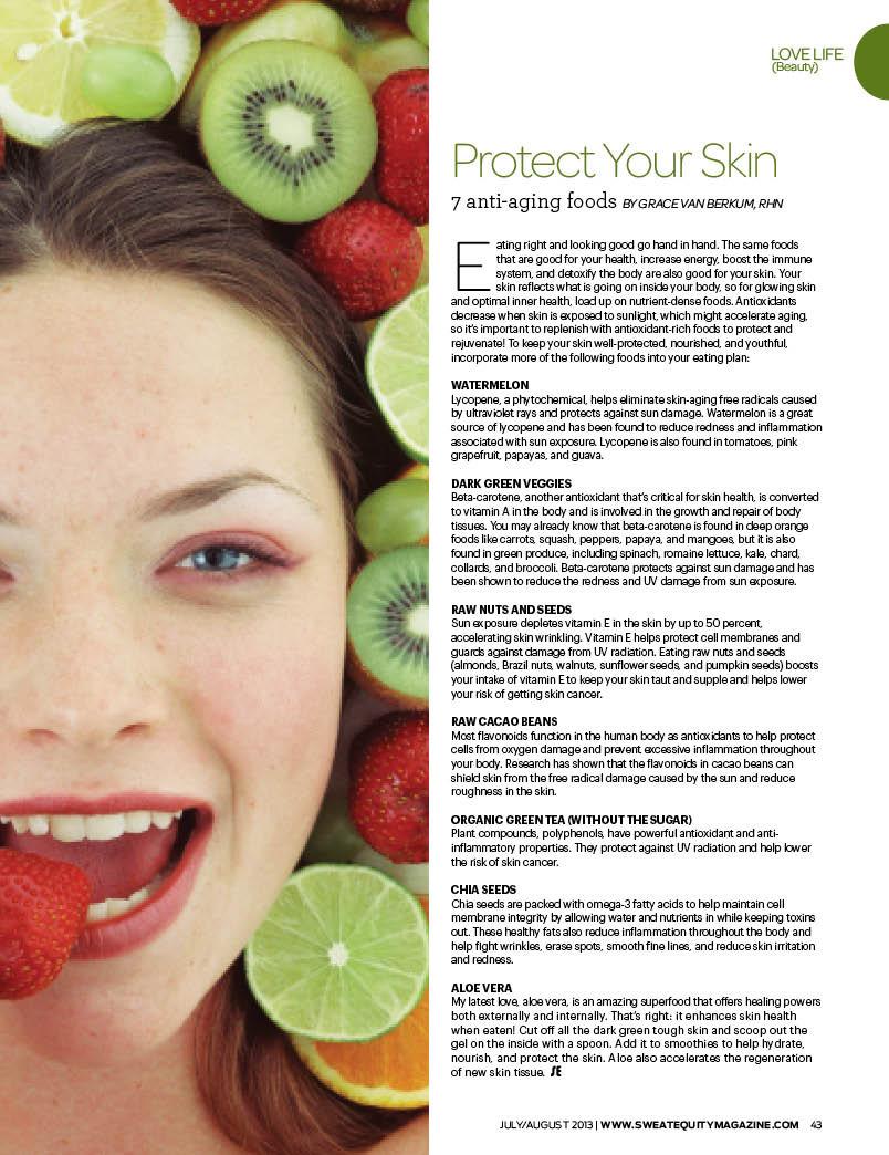 Grace Van Berkum-Sweat Equity Magazine-anti-aging foods