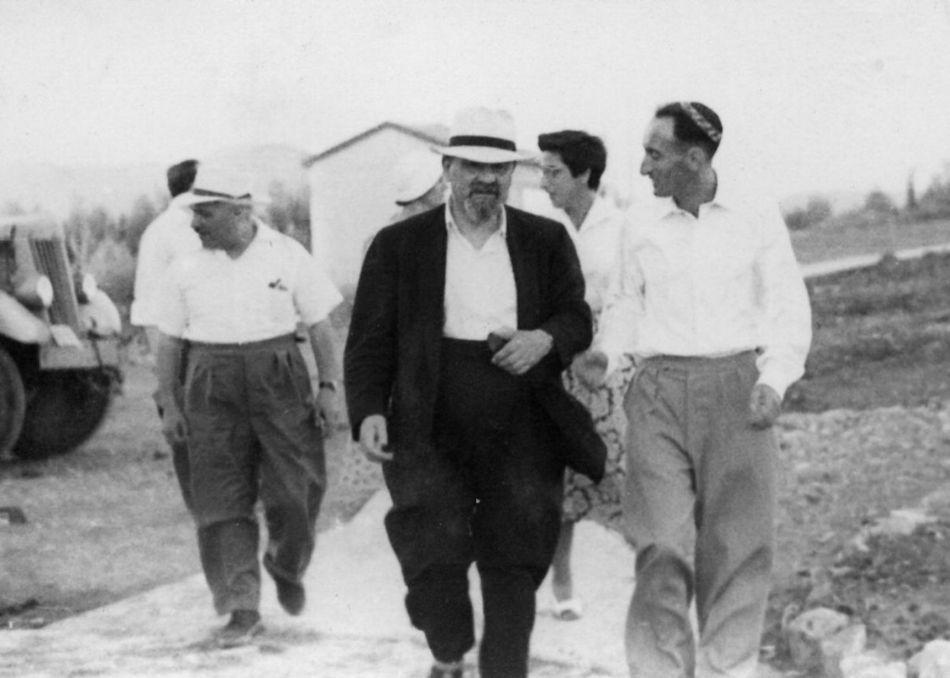 ביקור הרב ברודי הרב הראשי של אנגליה 1958
