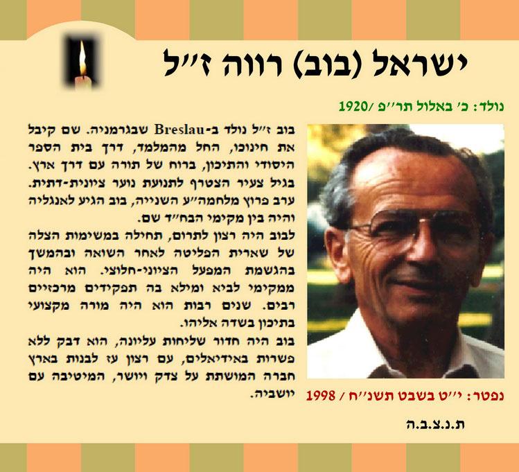 בוב ישראל רווה