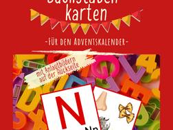 Buchstabenkarten (Freebie Adventskalender)