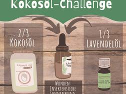 Kokosöl-Challenge. Mit Weniger Mehr.