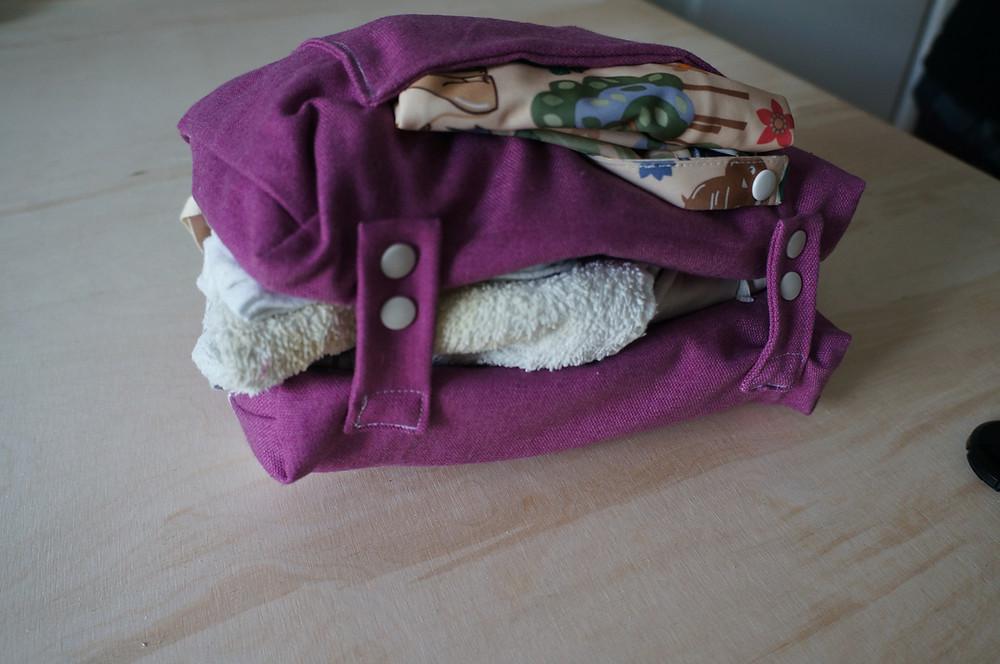 Wickeltasche gepackt