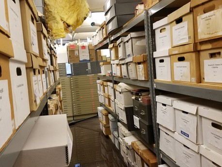 Pipe Bursts above CSU Archives Damaging Records