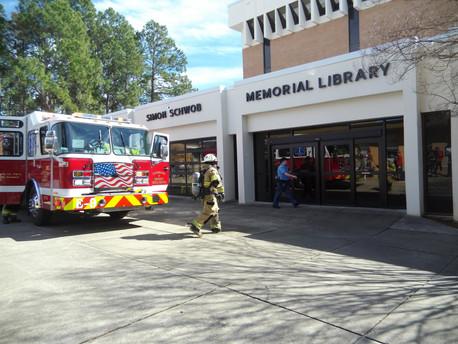 Library Elevator Malfunction Causes Alarm