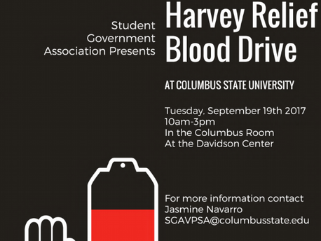 Student Government Association Hosting Blood Drive Tuesday Sept. 19