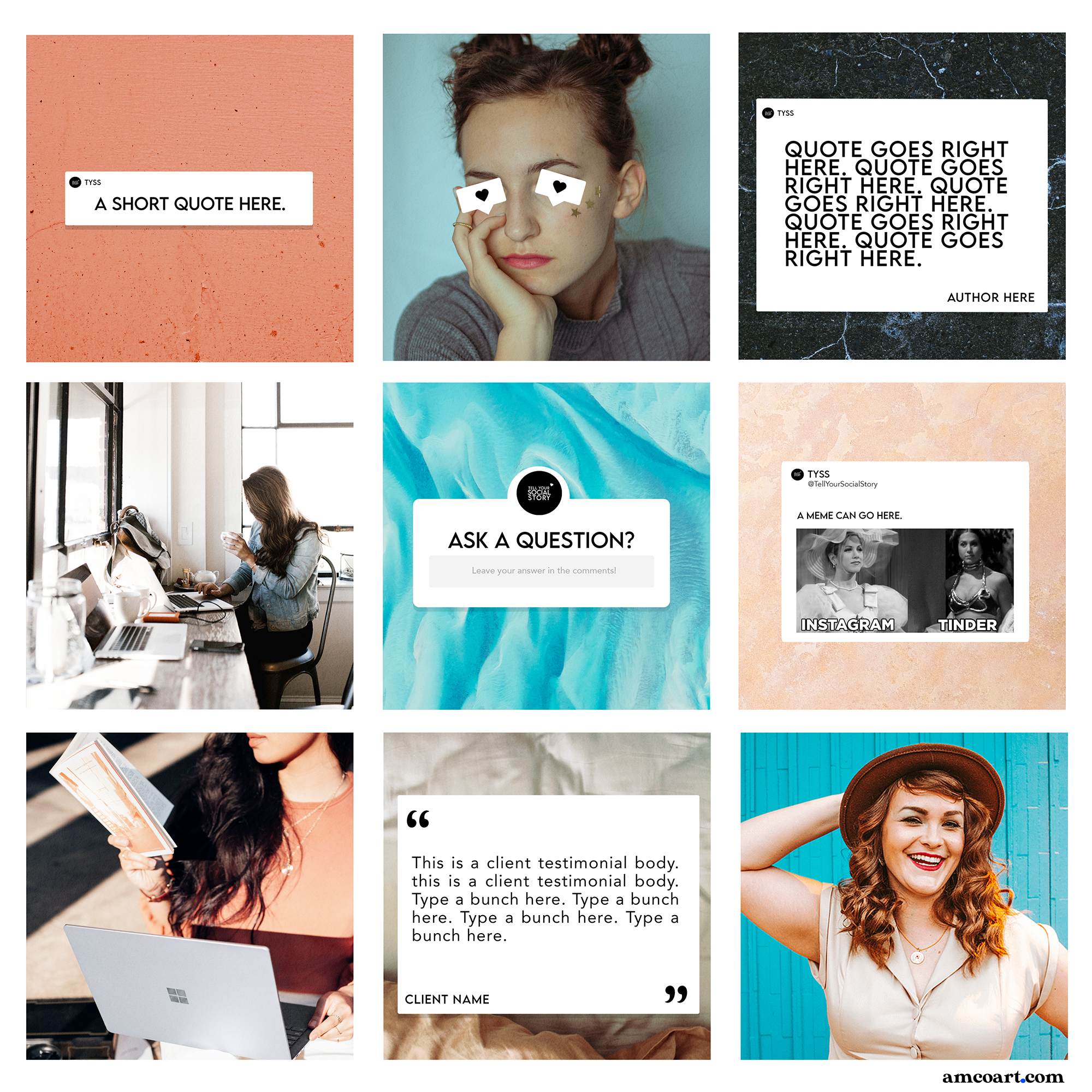 IG Grid Templates Preview
