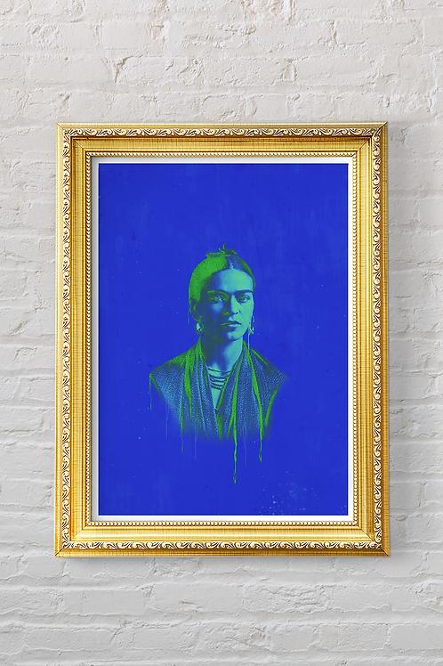 FRIDA (BLUE) Print