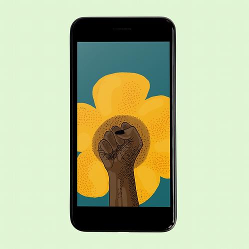 BLACK FLOWER POWER Phone Wallpaper Download