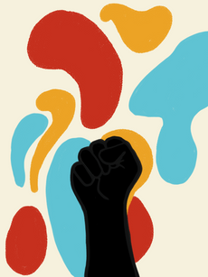 Black Power Abstract