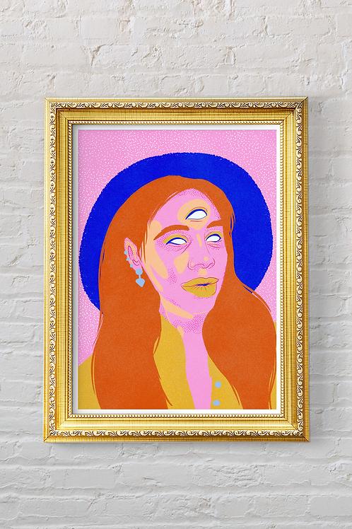 3-EYED WOMAN Print