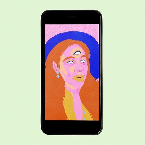 3-Eyed Woman Phone Wallpaper Download