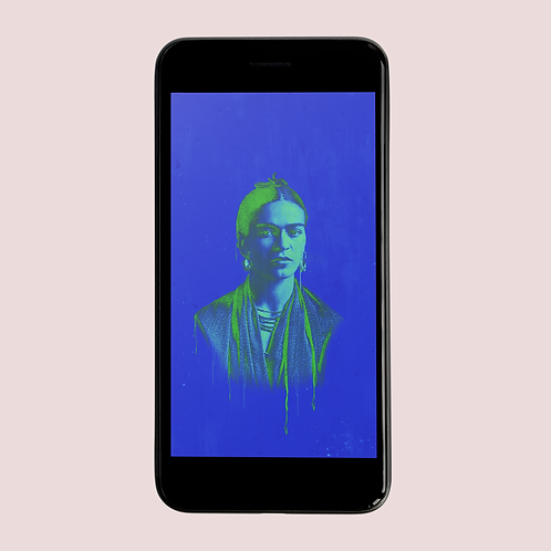FRIDA BLUE Phone Wallpaper Download