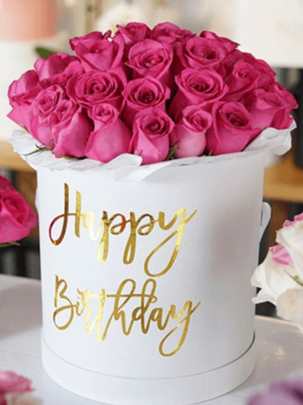 Pink Roses  For Birthday