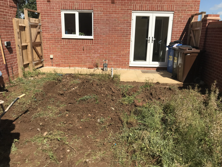Slabbing and Turfing | New House in Mickleover