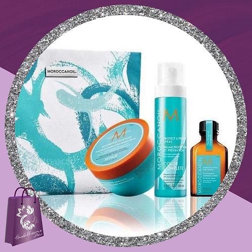 Mascarilla reparadora 250ml,Spray protector color y UV,aceite 25ml Bolso cosmeti