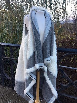 Faux Sheepskin Waistcoat Style Wrap