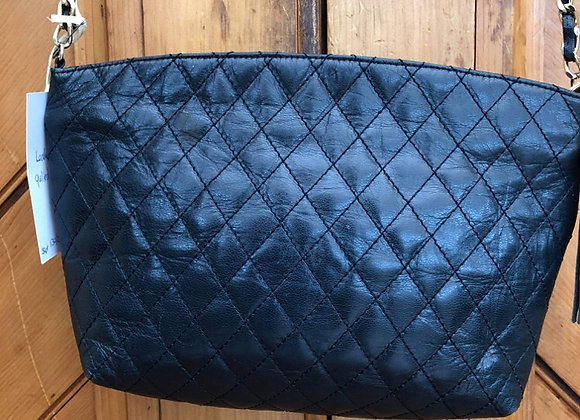 Navy Leather Handbag