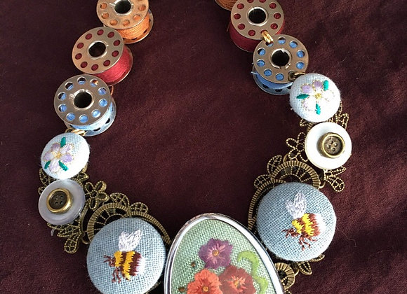 Sewing Bee Necklace
