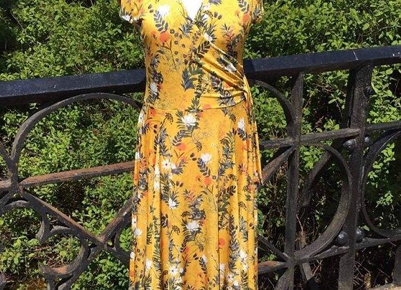 New Mustard Print Dress