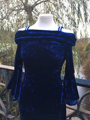 Crushed Velvet Wiggle Dress