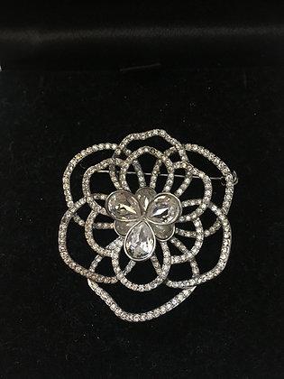 Swarovski Crystal Flower Brooch