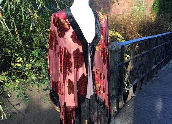 Velvet/Chiffon Floaty Jacket