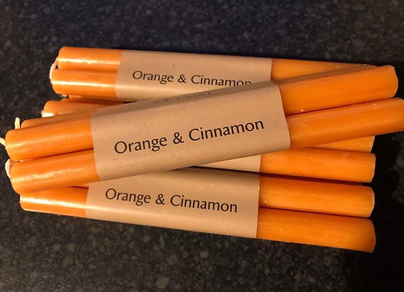 Orange & Cinnamon Candles