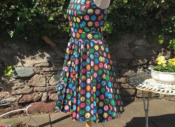 Fabulous 1950's Emoji Print Dress
